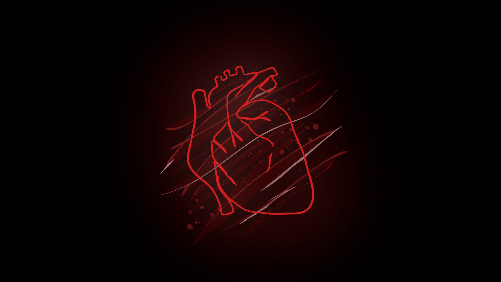 Illustration of a glowing human heart