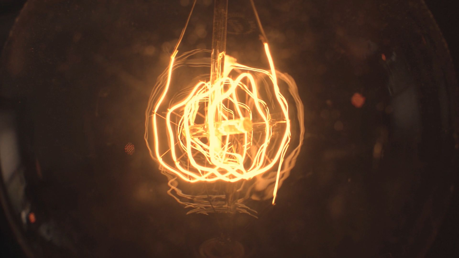 Photo of glowing light bulb