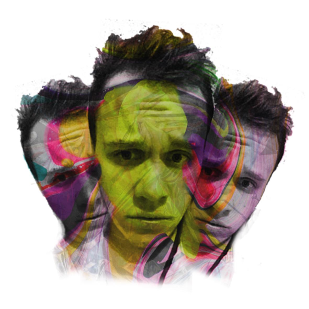 Three fold portrait of Jonathan Werner