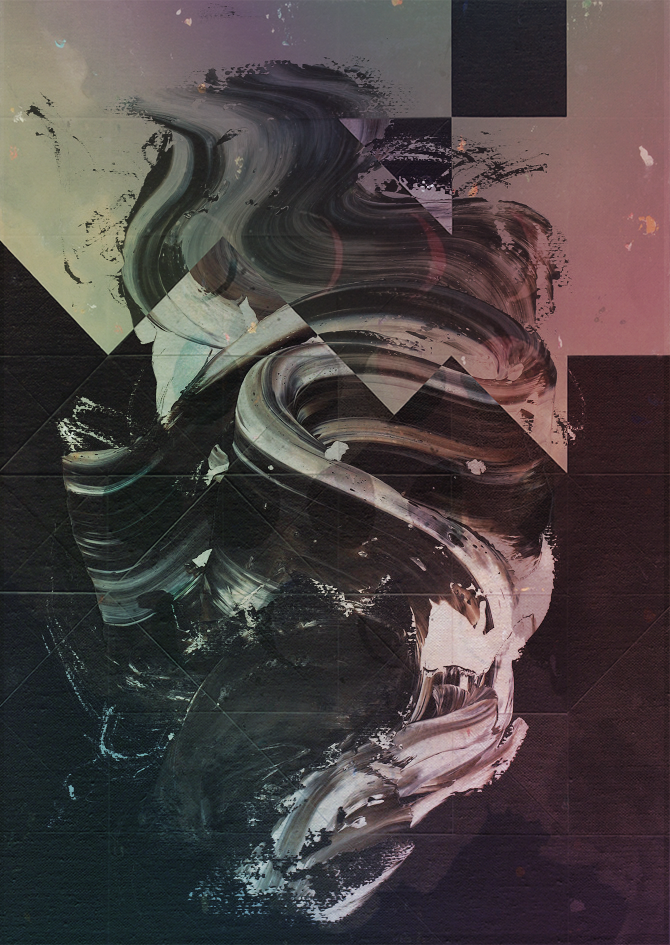 Digital painting of a splash