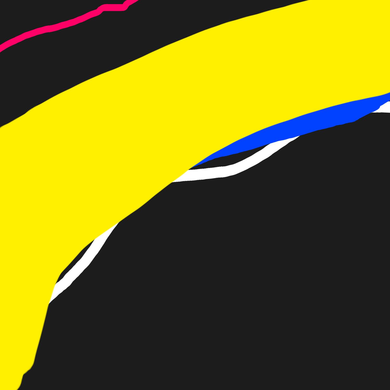 Fat primary color strokes
