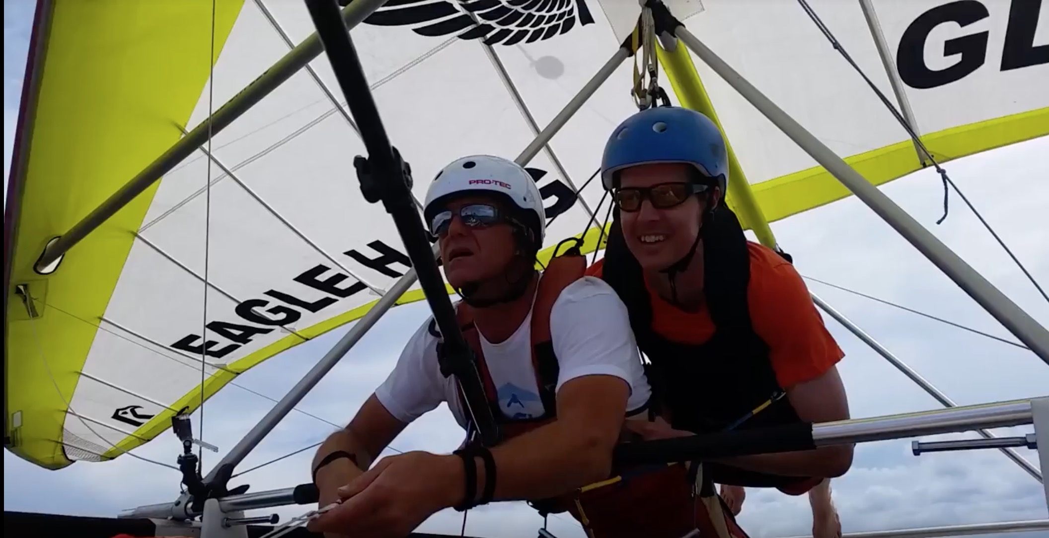 wish recipient michael hang gliding