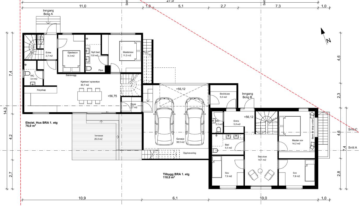 Bygg hus tegninger