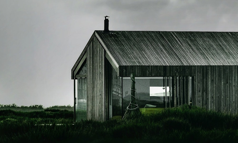 Tilbygg hytte