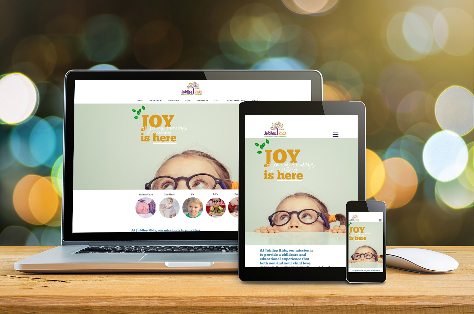 Responsive web design for daycares