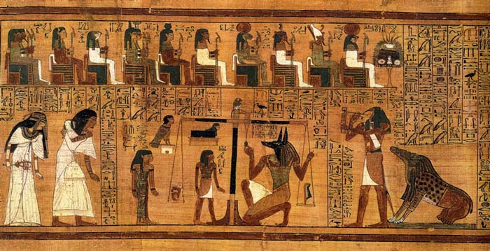 The Weighing of the Heart from the Book of the Dead of Ani