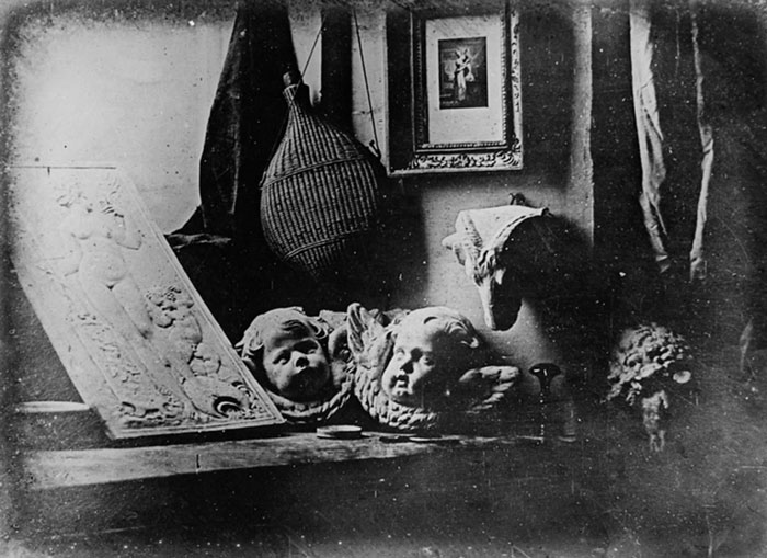 Louis-Jacques-Mandé Daguerre, Still Life in Studio, 1837