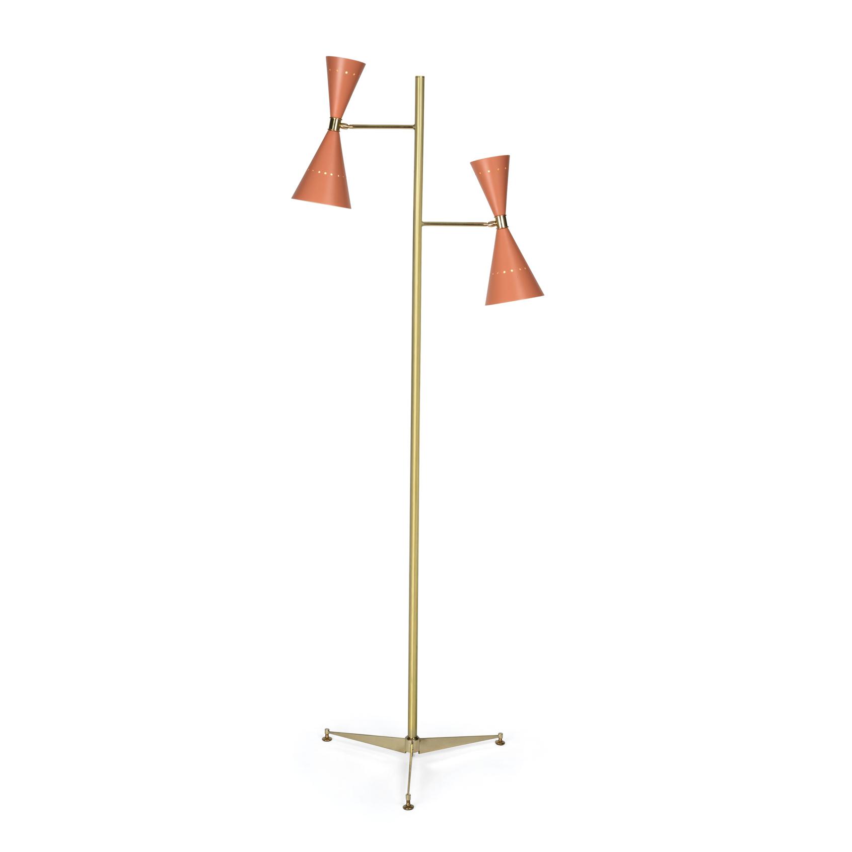 Two cones floor lamp