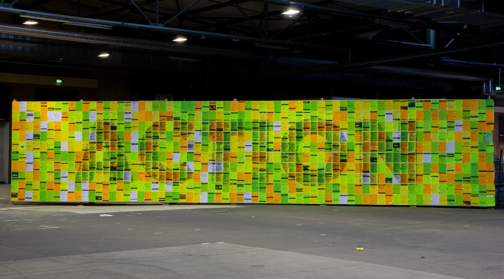 The final state of the twitter wall at the end of day 3.