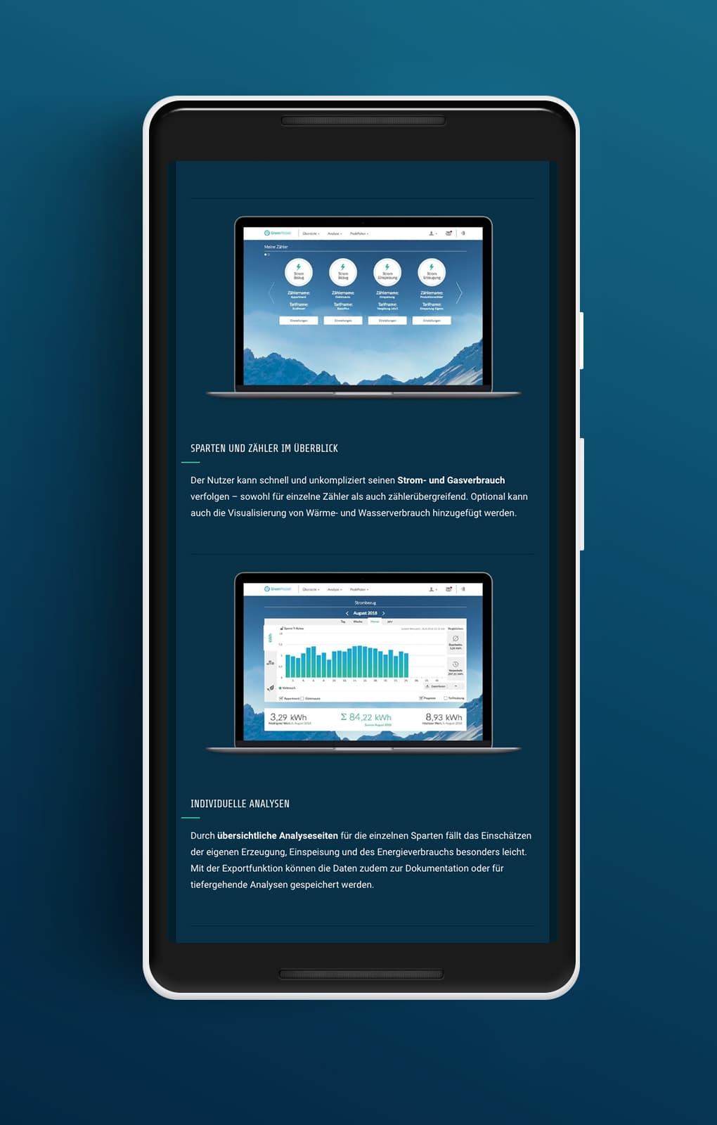 Website Detailseite Mobile - GreenPocket