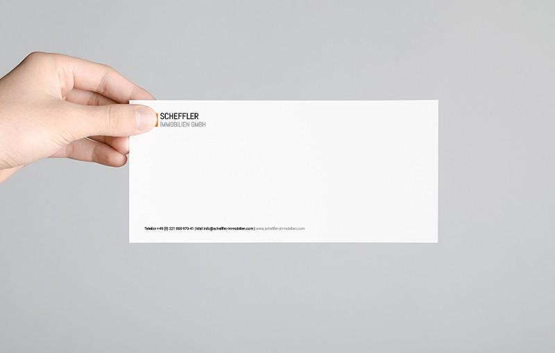 Compliment Card Rückseite - Scheffler Immobilien GmbH