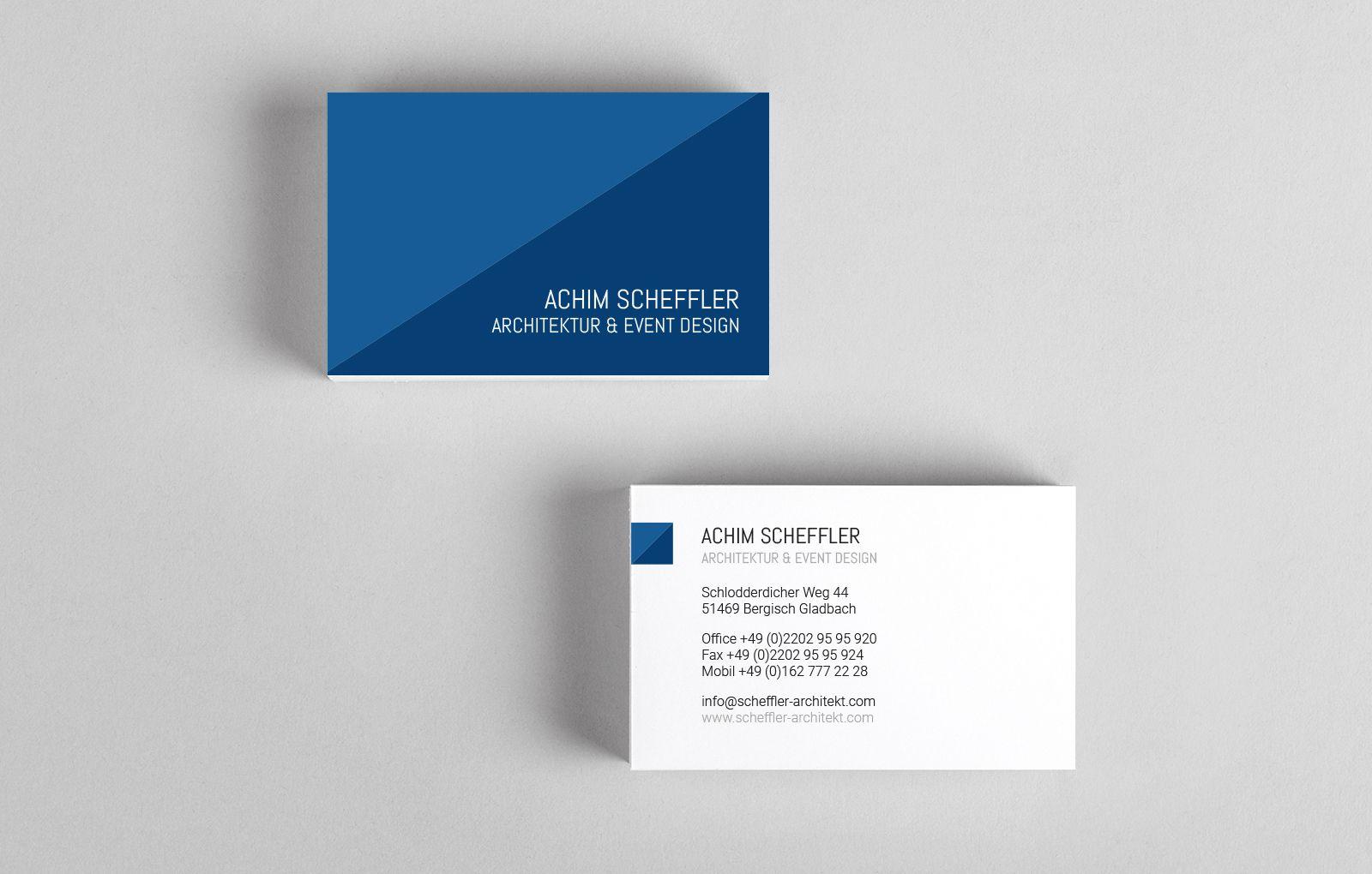 Visitenkarten Achim Scheffler Architektur & Event Design