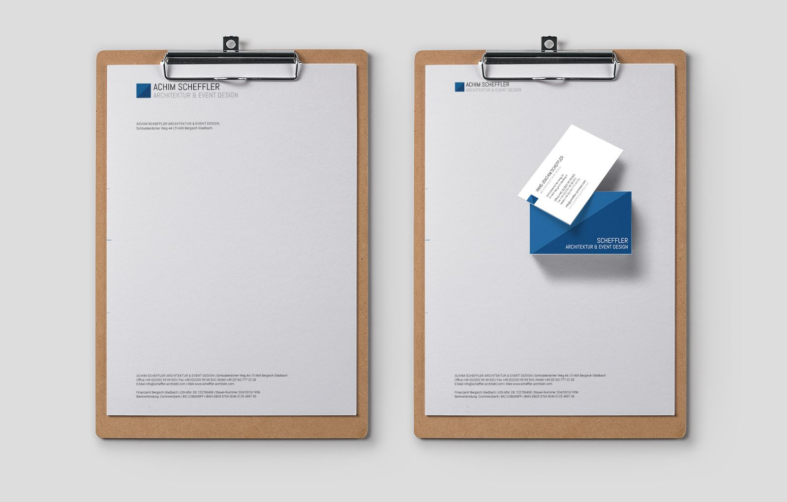 Briefpaier für Achim Scheffler Architektur & Eventdesign