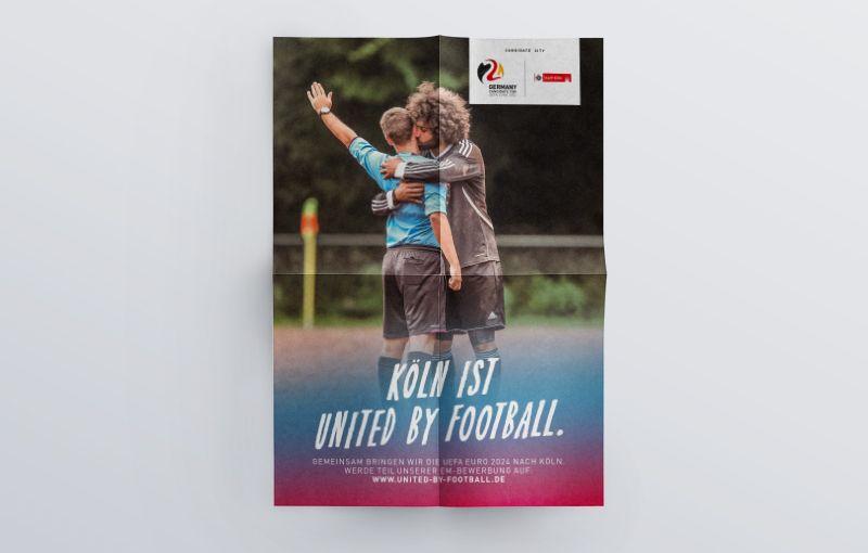 Plakat - Köln ist united by Football