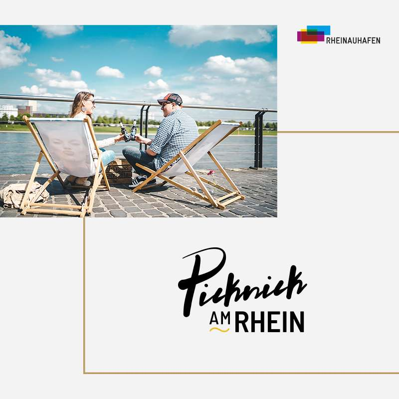 Rheinauhafen - Social Media Post Picknick am Rhein