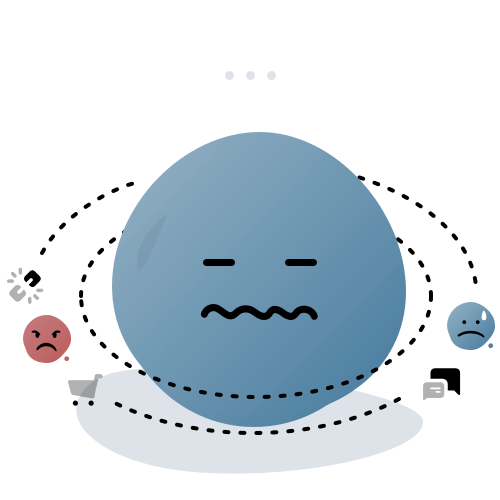 stressed emoticon
