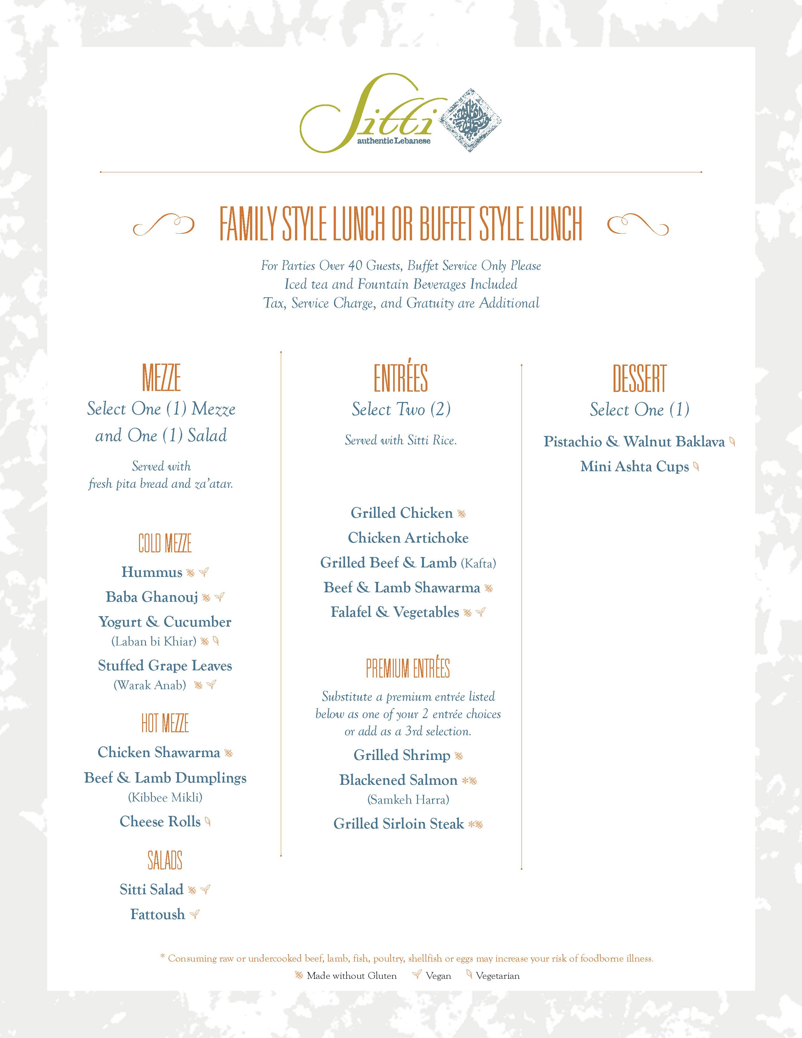 sitti lunch menu