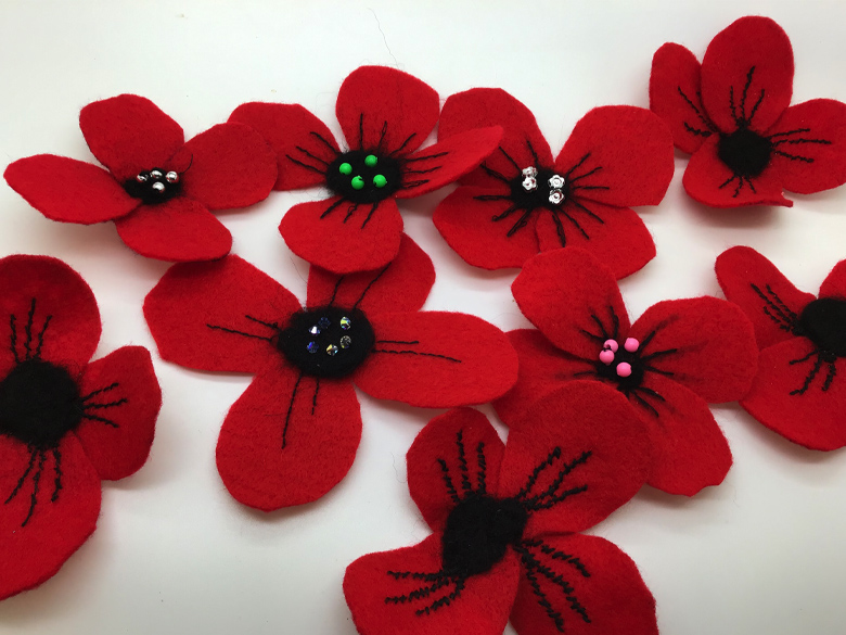 Combined forces poppy wreath