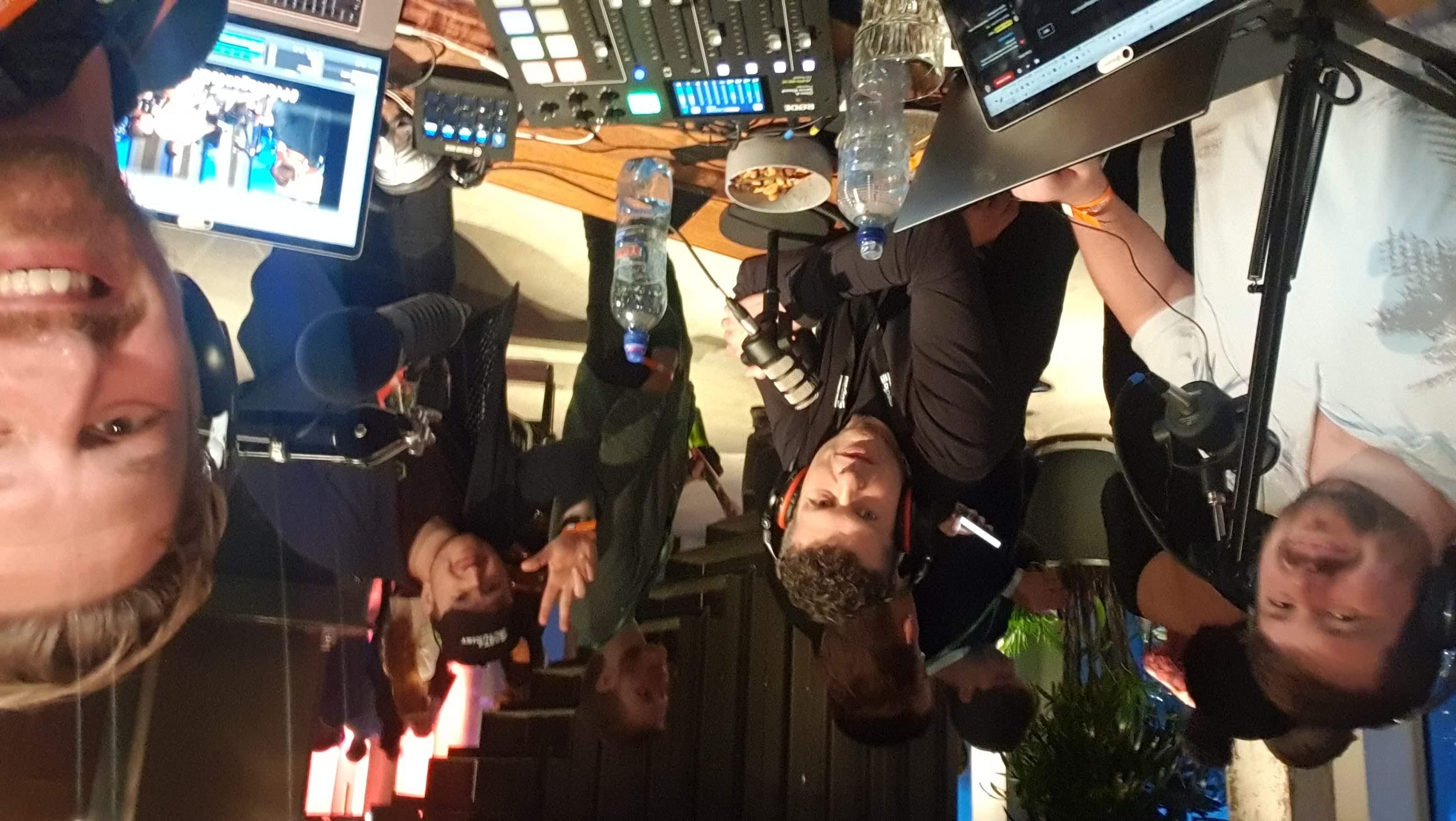 Sander de Graaf, Sander Mangel & Guido Jansen nemen de Dutchento podcast op