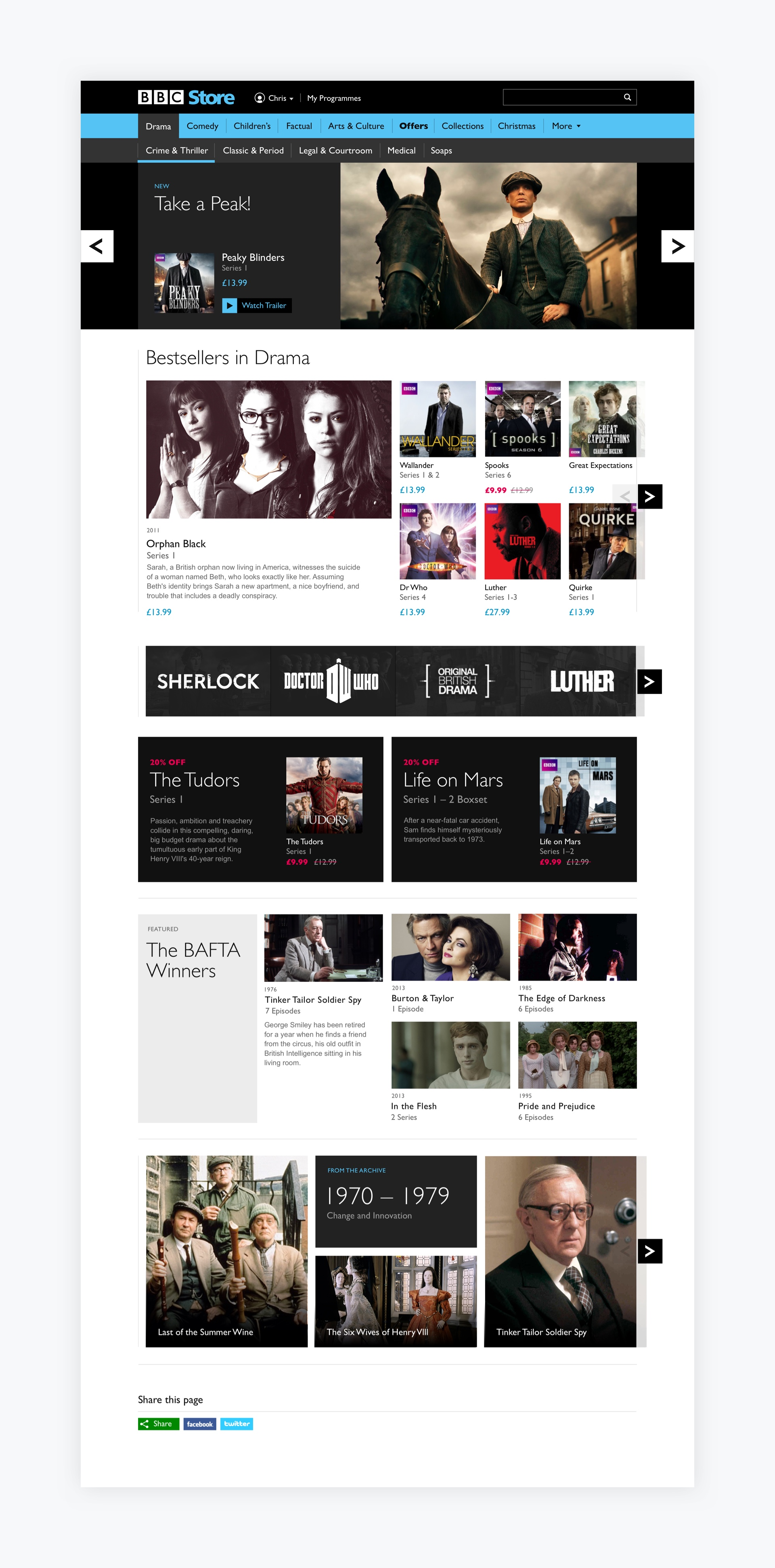 BBC Store - Our approach