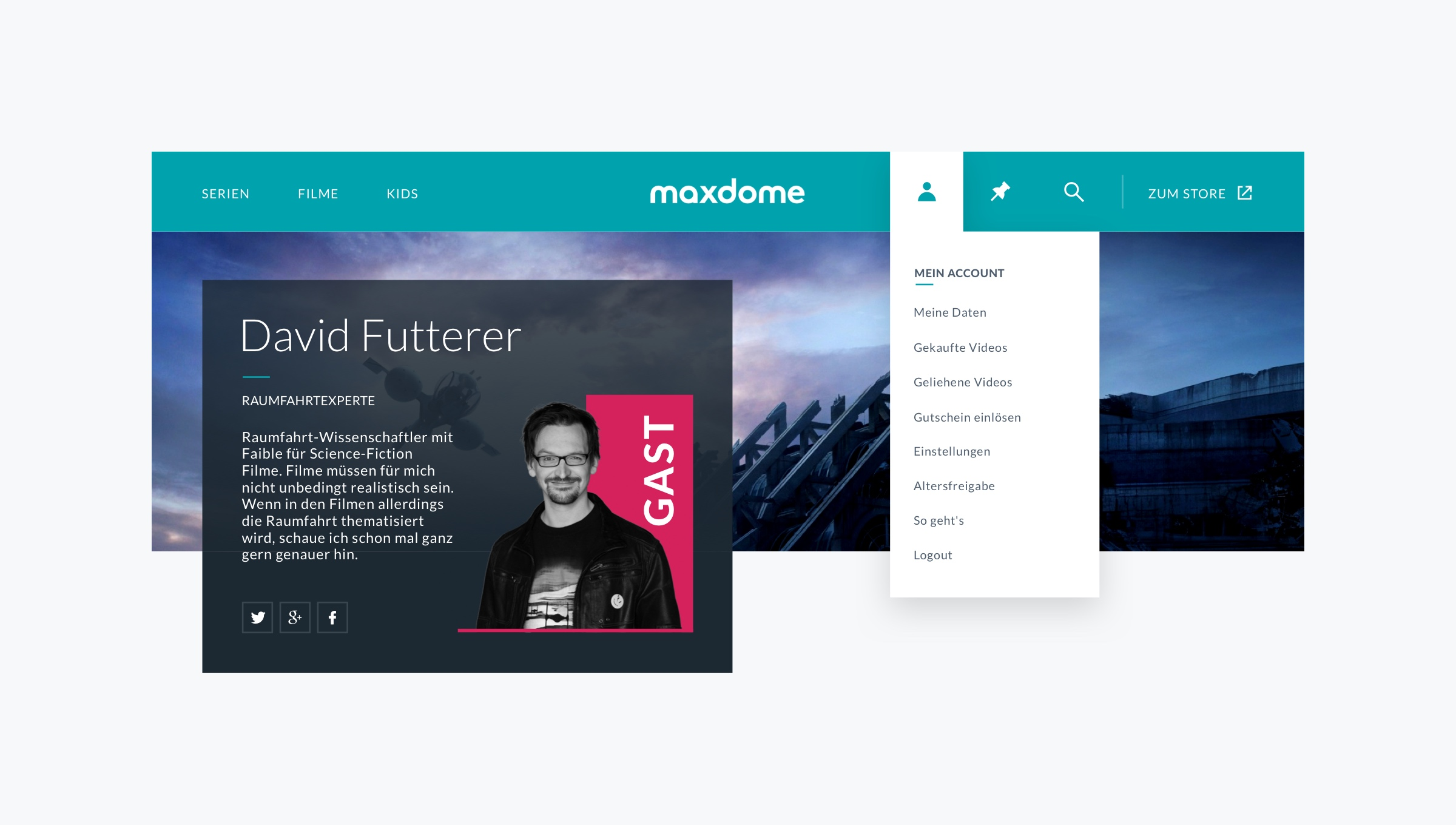 maxdome - Simplicity in navigation