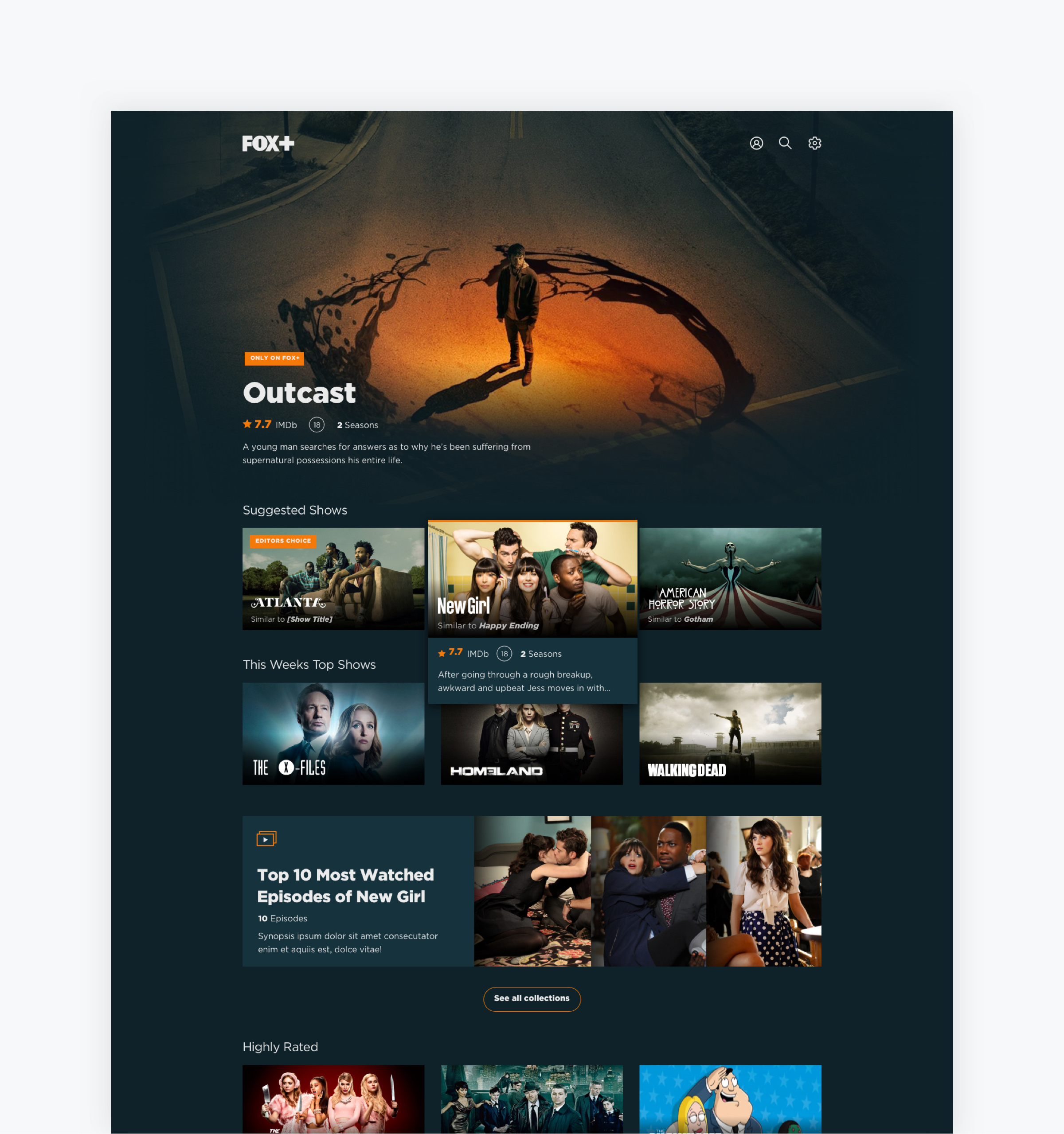 FOX - Showcasing the content