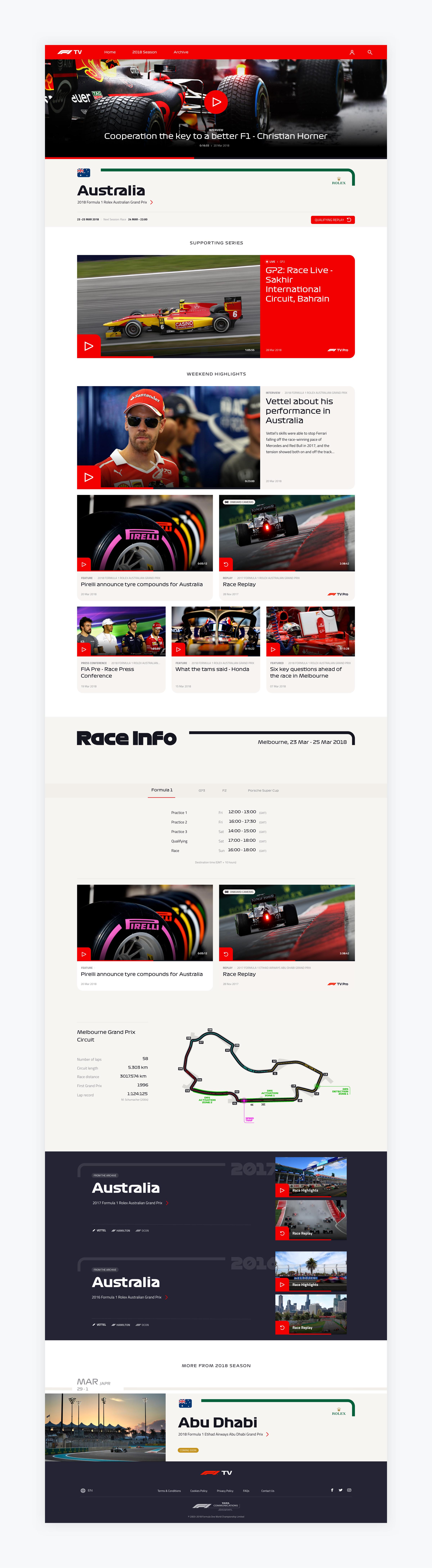 F1TV - New user experience paradigm