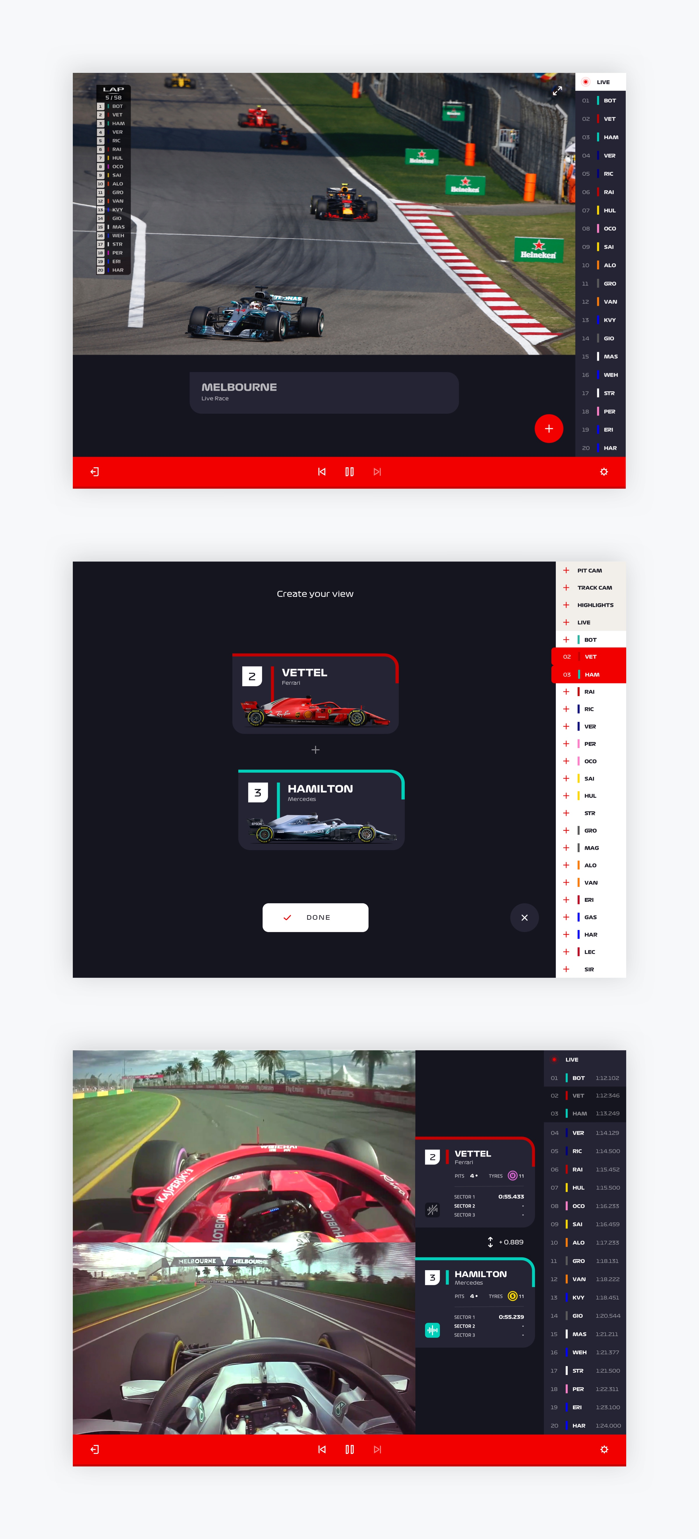F1TV - Viewer control