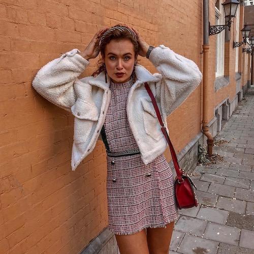 Nederlandse fashion influencer Fenne Leonoor in de influencer DNA top 30 lijst
