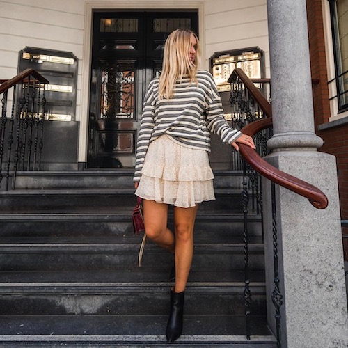 Nederlandse fashion influencer Noortje van Warmerdam in de influencer DNA top 30 lijst