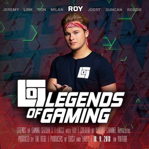 Nederlandse gaming influencer Roy Beszelsen in de Influencer DNA top 30 lijst