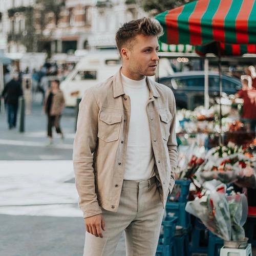 Nederlandse fashion influencer Ruben van de Sande in de influencer DNA top 30 lijst