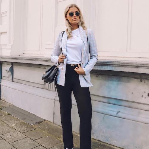 Nederlandse vrouwelijke fashion influencer Daphne van Kerkhoff in de Influencer DNA top 30