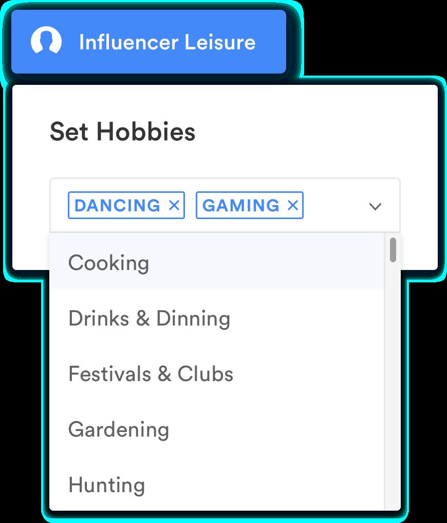 Bekijk influencer hobby's