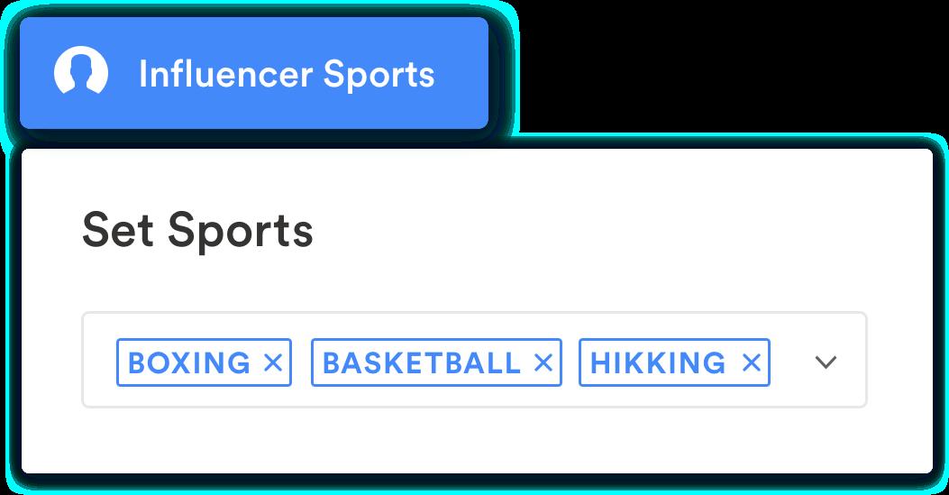 filter influencer sport