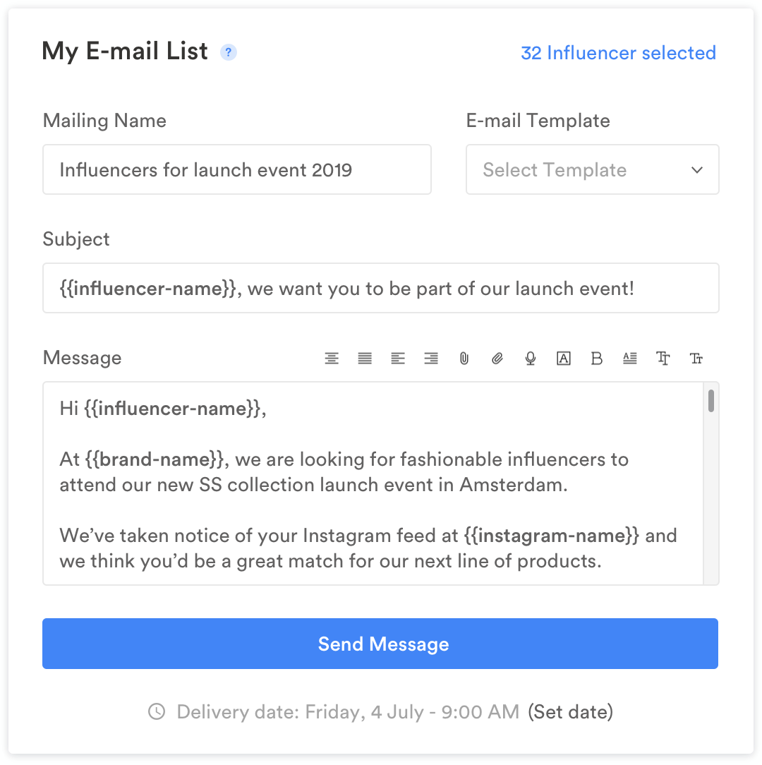 email lists - database