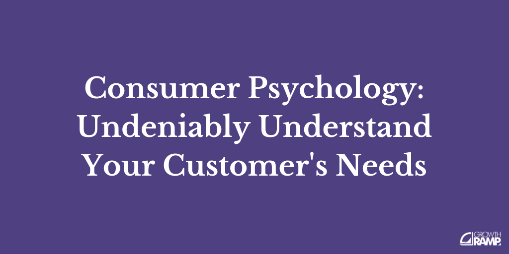 Consumer Psychology: Undeniably Understand Your Customer's Needs