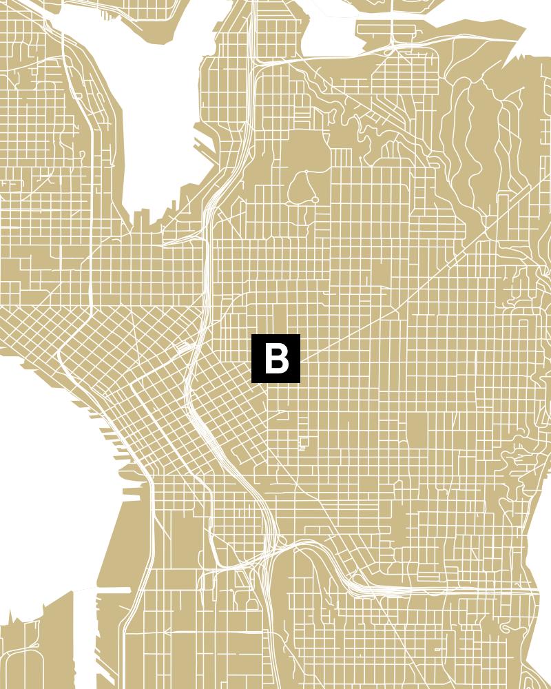 Bread n Butter Seattle Map