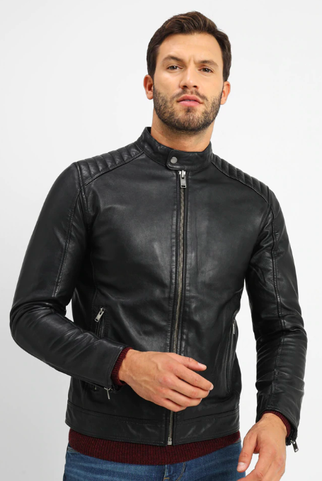 Black Leather Jacket from zalando.co.uk