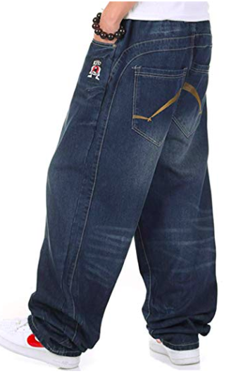 Hip-hop baggy denim jeans from amazon.com