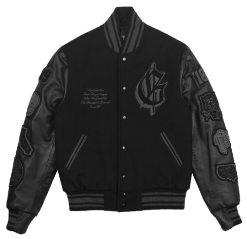 Varsity Jacket with leather sleeves from the official G-Eazy Store