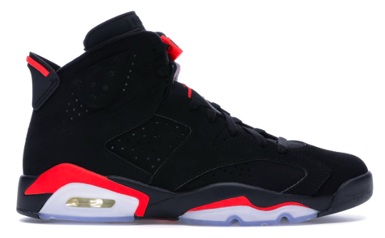 Jordan 6 Retro Black Infrared (2019) from stockx.com