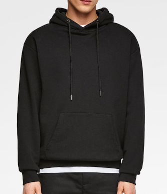 Black Hoodie Plain from zara.com