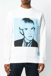 Andy Warhol print sweatshirt from farfetch.com