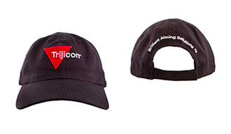 Trijicon black hat with red logo from trijicon.com