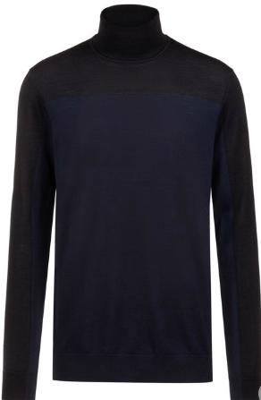 Slim-fit turtleneck black sweater from hugoboss.com