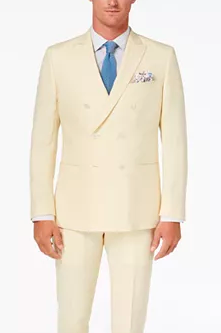Peachy colored suit jacket from macys.com