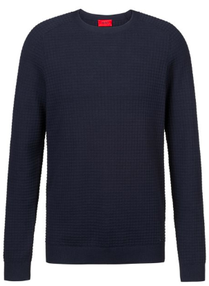 Crew neck sweater in knitted cotton from hugoboss.com