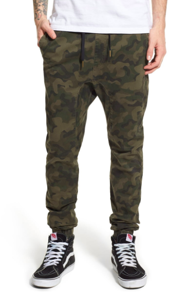 Green camo joggerpants from shop.nordstrom.com