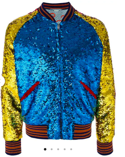 Sequin blue bomber jacket from farfetch.com